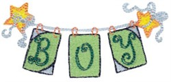 Boy Banner embroidery design