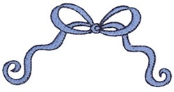 Baby Boy Bow embroidery design