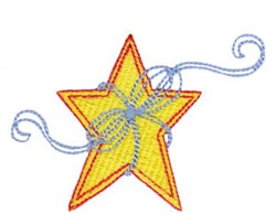 Star & Ribbon embroidery design
