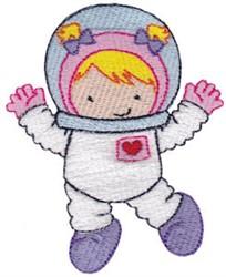 Astronaut Girl embroidery design