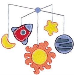 Space Mobile embroidery design