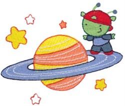 Alien Planet embroidery design