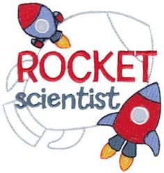 Rocket Scientist embroidery design