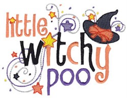 Witchy Poo embroidery design