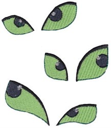 Halloween Spooky Eyes embroidery design
