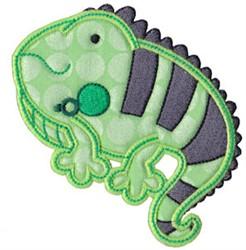 Applique Chameleon embroidery design