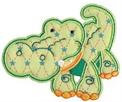Applique Crocodile embroidery design
