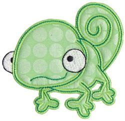 Applique Gecko embroidery design