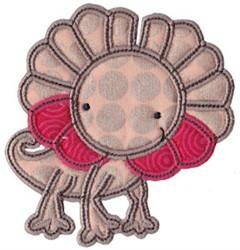 Applique Frilled Lizard embroidery design