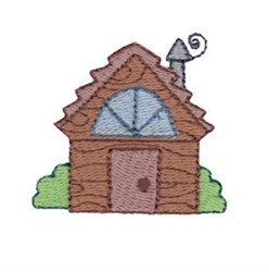 Mini Log Cabin embroidery design