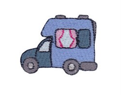 Mini Camper embroidery design