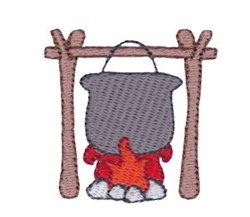 Mini Cook Fire embroidery design