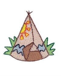 Mini Teepee embroidery design