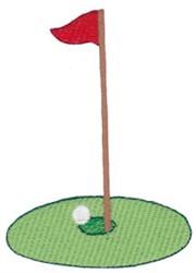 Golf Flag & Hole embroidery design