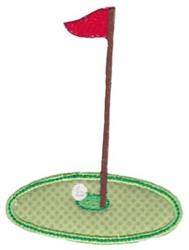 Golf Course Pin Applique embroidery design