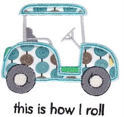 Golf Cart Applique embroidery design