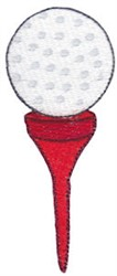 Golf Tee embroidery design