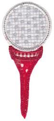 Golf Tee Applique embroidery design
