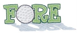 Fore! embroidery design