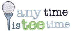 Anytime Is Tee Time embroidery design