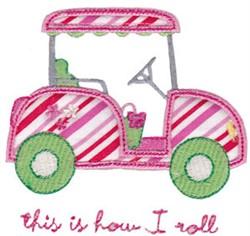 Applique Golf Cart embroidery design
