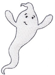 Friendly Ghost embroidery design