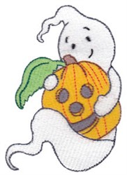 Friendly Ghost & Jack-O-Lantern embroidery design