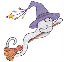 Halloween Witchy Ghost embroidery design