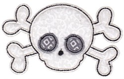 Skull & Crossbone Applique embroidery design