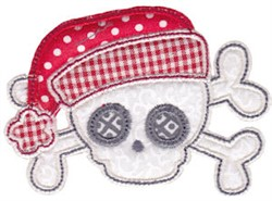 Christmas Skull Applique embroidery design