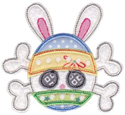 Easter Skull & Crossbones embroidery design