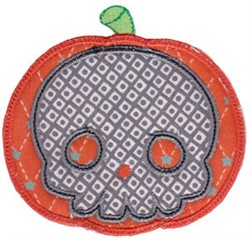 Skull & Pumpkin Applique embroidery design