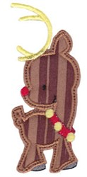 Applique Reindeer embroidery design