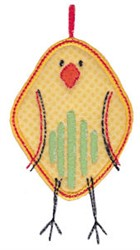 Here Birdie Chick Applique embroidery design