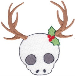 Holiday Skull embroidery design