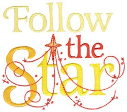 Follow The Star embroidery design
