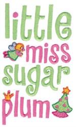 Little Miss Sugar Plum embroidery design