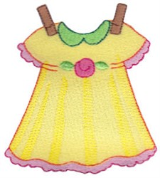 Laundry Day Dress embroidery design