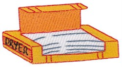 Laundry Day Dryer Sheets embroidery design