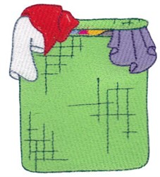 Laundry Day Clothes Hamper embroidery design