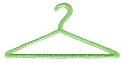 Laundry Day Clothes Hanger embroidery design