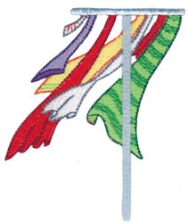 Laundry Day Clothesline embroidery design