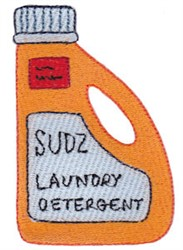 Laundry Day Detergent embroidery design