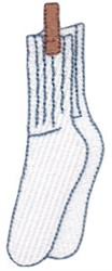 Laundry Day Socks embroidery design