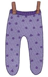 Laundry Day Pants embroidery design