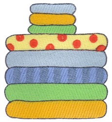 Laundry Day Folded Towels embroidery design
