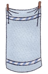 Laundry Day Towel embroidery design