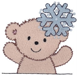Teddy Bear & Snowflake embroidery design