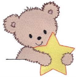 Teddy Bear & Star embroidery design