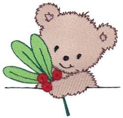 Teddy Bear & Holly embroidery design